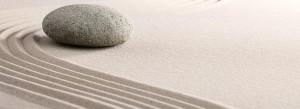 Rock in sand slider